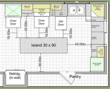 Kitchen Layout With Island Blueprint 42 Trendy Ideas Kitchen Kitchen Designs Layout Kitchen Cabinet Layout