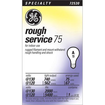 Ge 130 Volt Light Bulb Wattage 75 Light Bulb Candle Bulb