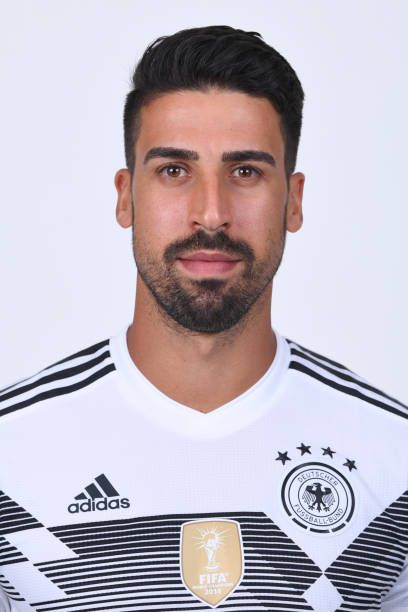 Sami Khedira Of Germany Pose For A Photo During The Official Fifa World Cup 2018 Portrait Session On June 13 2018 In Mosc Sami Khedira Football Hairstyles Fifa