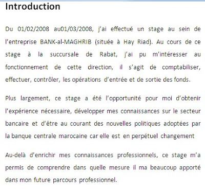 Introduction Rapport De Stage Doc Rapport De Stage Bts Exemple De Rapport Rapport De Stage 3eme