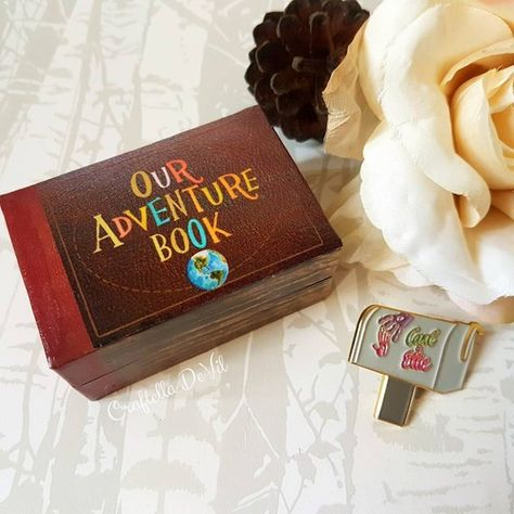 Our Adventure Book Deluxe Wedding Ring Box Double Ring Box
