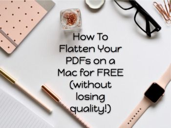Tutorial How To Flatten Secure Pdfs Without Losing Quality On A Mac For Free Tutorial Mac Flatten