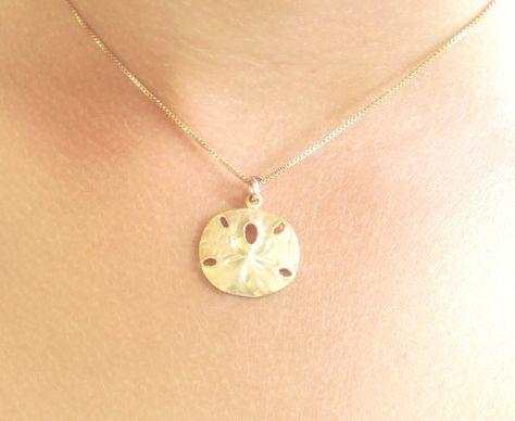 sand dollar necklace beach necklace hawaiian by natashaaloha, $45.00