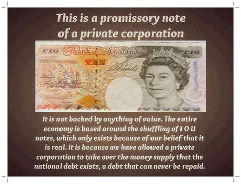 These Promissory Notes Are Created Through Our Consent