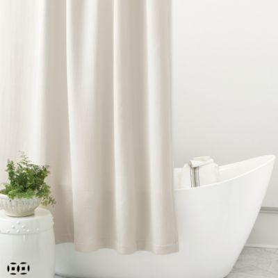 Ballard Signature Diamond Matelasse Shower Curtain Burlap Shower