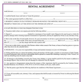 Printable Sample Rental Application Forms Form  Rent