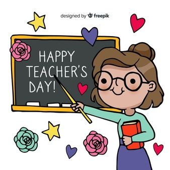 Download Lovely Teachers Day Composition With Flat Design For Free Teachers Day Card Teachers Day Happy Teachers Day