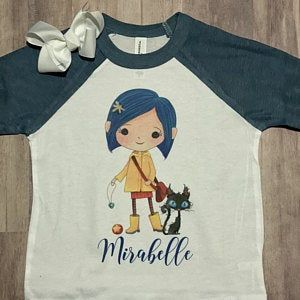 Cute Coraline Character Clipart Instant Download Png File Etsy In 2020 Coraline Characters Coraline Clip Art