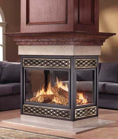 Home Fireplaces Gas Fireplaces Napoleon Bgnv40n4 Peninsula 4 Open Sides W Black Door Gas Fireplace Vented Gas Fireplace Fireplace