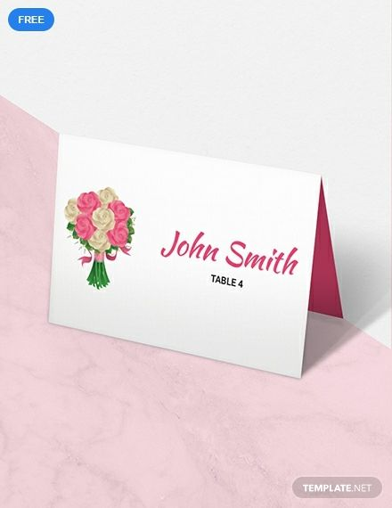 Free Floral Wedding Place Card Template Wedding Place Card Templates Place Card Template Wedding Name Cards