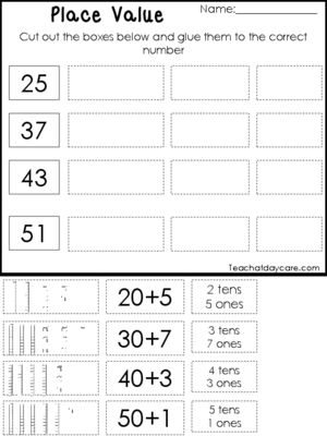 10 Place Value Worksheets Base 10 Tens And Ones Expanded Form