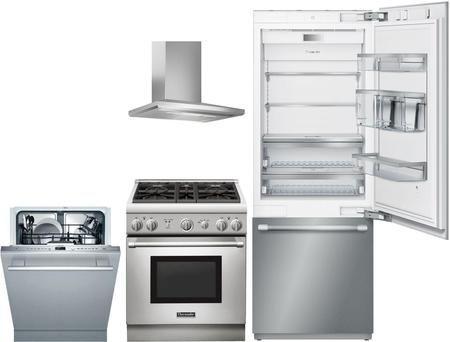 Thermador 977627 4 Piece Panel Ready Kitchen Appliances Package Kitchen Appliance Packages Built In Refrigerator Kitchen Appliances