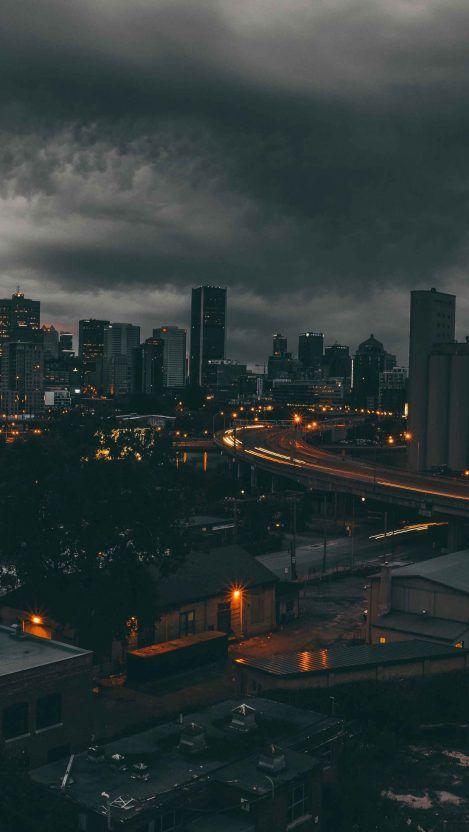 Cloudy City Iphone Wallpaper Free Getintopik In 2020 Sunset Iphone Wallpaper Sunset City City Wallpaper