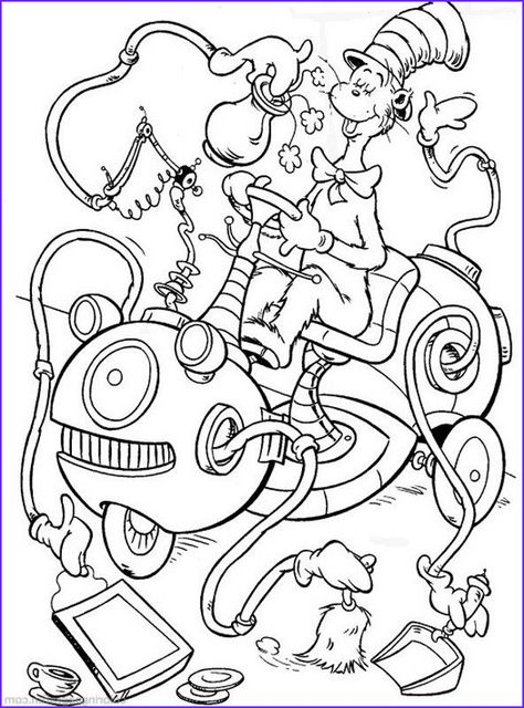Dr Seuss The Cat In The Hat Coloring Pages 27 Free Dr Seuss Coloring Pages Witch Coloring Pages Cartoon Coloring Pages