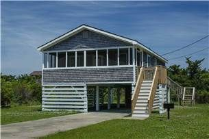 Life On A Sandbar 3 Bedrooms 2 Baths Oceanside Salvo Nc In 2020 Screened In Porch Hatteras Rentals Vacation Cottage