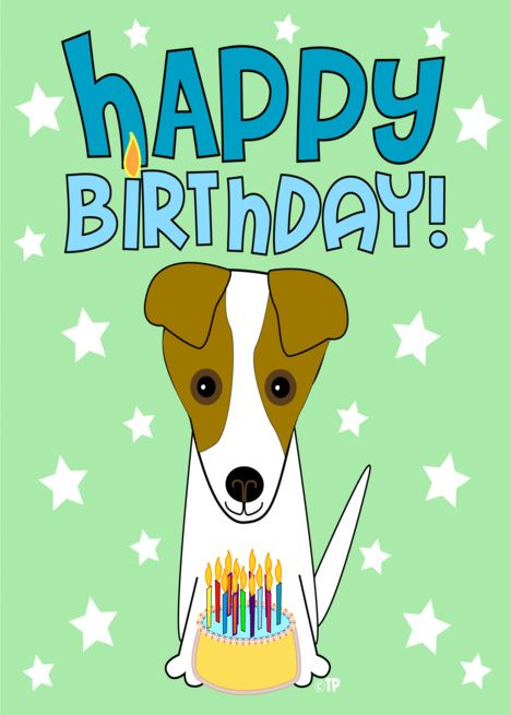 Happy Birthday Jack Russell Terrier Card Ad Affiliate Jack Birthday Happy Card Jack Russell Jack Russell Terrier Happy Birthday