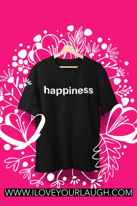 This t-shirt is super soft, luxurious, and crafted in an eco-friendly facility! One bold word to proclaim to the world your desire for your life. Simple in its design, but powerful in its intention. Wear our Happiness T-Shirt and spread your positive energy to everyone around you. Or gift it to a loved one and deliver some happiness to someone who needs it today! #iloveyourlaugh #inspirational #ecofriendly