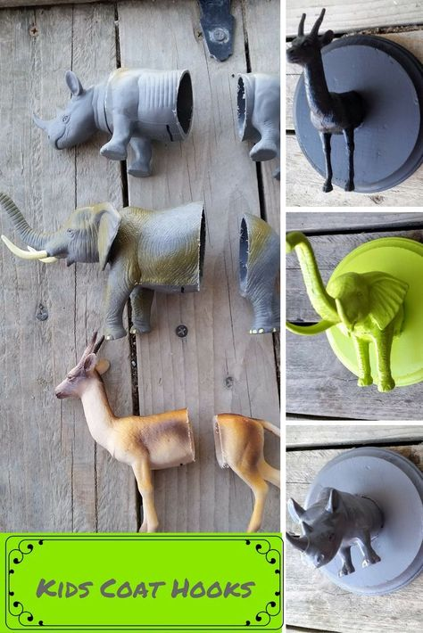 DIY kids coat hooks // Kids room decor ideas and inspiration