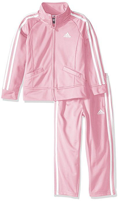: adidas Baby Girls' Tricot Zip Jacket and Pant