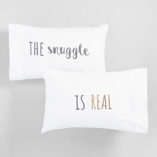 The Snuggle Is Real Pillowcases Set Of 2 Pillow Cases Bedding Collections Storage Solutions Bedroom
