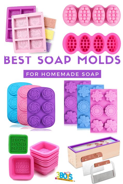 Learning about the best homemade soap molds is only a click away. You'll learn how to remove the soap from the soap molds. making Want to know more about the best homemade soap molds? Keep reading! Homemade Soap Bars, Homemade Soap Recipes, Homemade Paint, Soap Making Recipes, Soap Tutorial, Soap Display, Soap Making Supplies, Lavender Soap, Lush Soap
