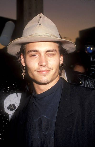 Johnny Depp during Decline of Western Civilization Part The Metal. : Johnny Depp during Decline of Western Civilization Part The Metal Years Premiere at Cinerama Dome in Los Angeles, California, United States. Young Johnny Depp, Johnny Depp Movies, Here's Johnny, Beautiful Boys, Pretty Boys, Beautiful People, Black Celebrities, Celebs, Celebrities Fashion