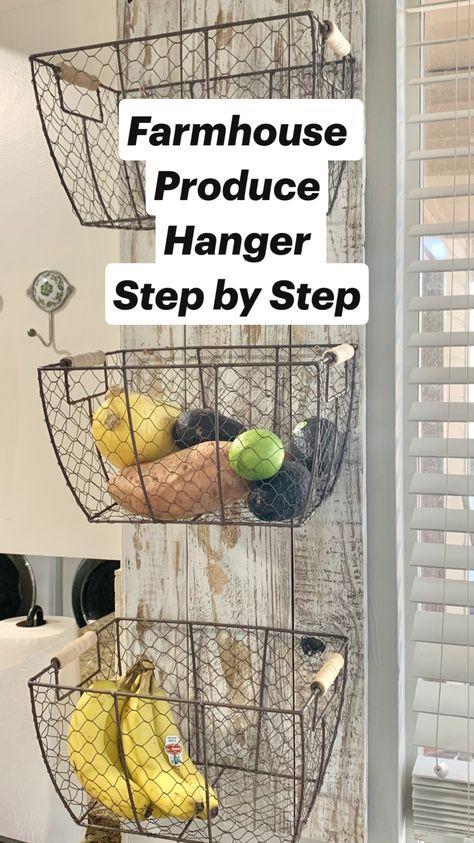 Farmhouse Produce Hanger  Step by Step