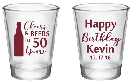 Personalized Birthday Shot Glasses Birthday Party Favors For Any