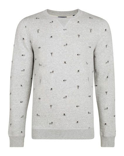 Heren sweater met opdruk | 95135731 WE Fashion