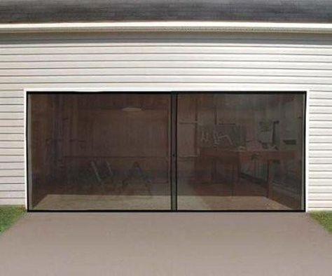 Anaconda Double Garage Door Screen Black 16 W X 7 H Garage Screen Door Double Garage Door Garage Doors