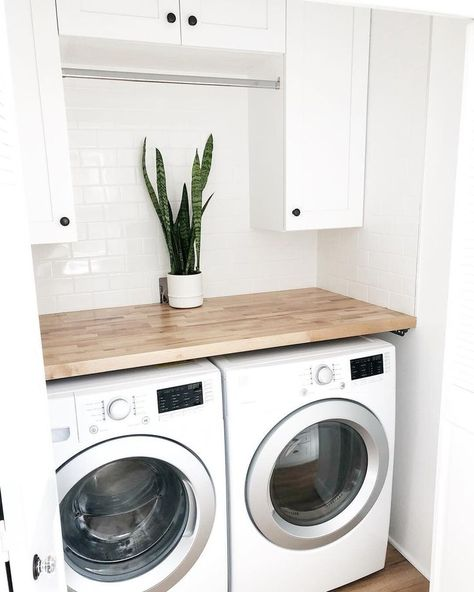 Laundry Room Makeover - DIY Peel and Stick Tile (with VIDEO) — Farmhouse Living room design small Laundry Room Makeover - DIY Peel and Stick Tile (with VIDEO) — Farmhouse Living Modern Laundry Rooms, Laundry Room Layouts, Laundry Room Remodel, Farmhouse Laundry Room, Laundry Room Storage, Laundry Room Bathroom, Laundry Room Small, Laundry Closet Makeover, Laundry Room Countertop