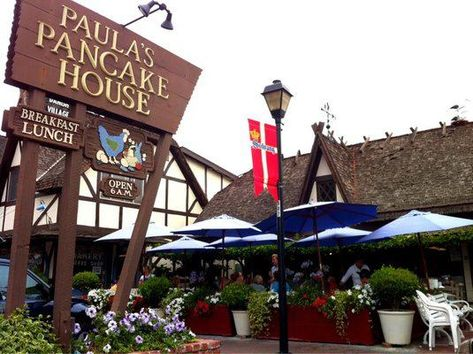 Paula S Pancake House Is A Pet Friendly Restaurant In Solvang Visit Bringfido Com Now For Details On Th California Travel Road Trips The Pancake House Solvang