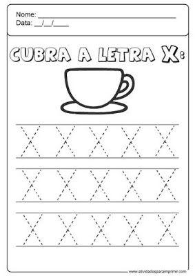 Alfabeto Pontilhado Com Imagens Atividade Alfabeto Educacao