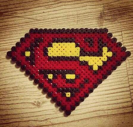 Superman Logo Hama Beads Pearler Beads Perler Beads
