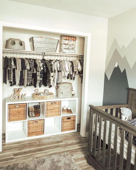 The Best in Nursery & Kid's Bedroom Closet and Storage Inspiration! The Best in Nursery & Kid's Bedroom Closet and Storage Inspiration Baby Bedroom, Closet Bedroom, Baby Boy Rooms, Baby Room Decor, Baby Boy Nurseries, Kids Bedroom, Baby Nursery Closet, Boys Closet, Small Baby Rooms