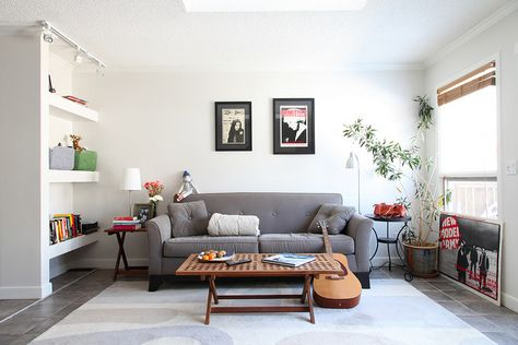 simple living room, and preferably with a fire place