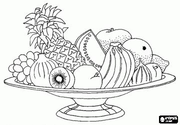 Fruit Basket Coloring Pages Coloring Coloring Coloring Pages