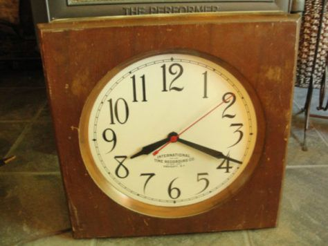 L Anse Township School Dist Old Vintage Wood Clock 1928 Int