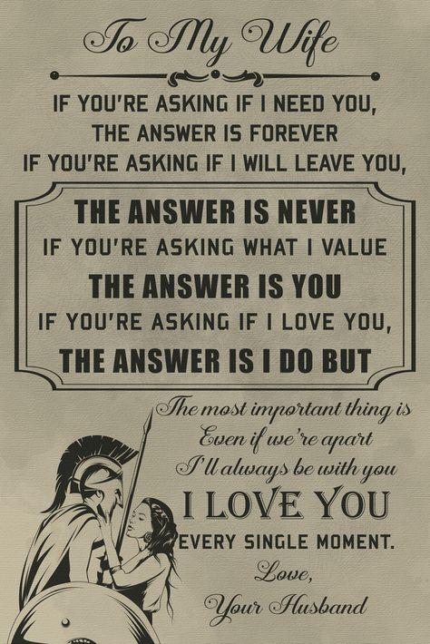 WA089 - To My Husband - Warrior Poster