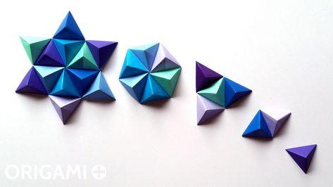 Origami Pyramid Pixels for 3D Paper Wall Art