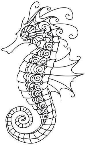 Embroidery Machine On Amazon Provided Embroidery Designs To Buy Seahorse Art Seahorse Image Coloring Pages
