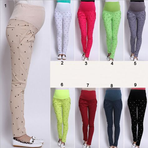 025f2b5822 Plus Size Long Maternity Skinny Pregnancy Pants Trousers Winter Pregnant  Women Clothes M~XXXL
