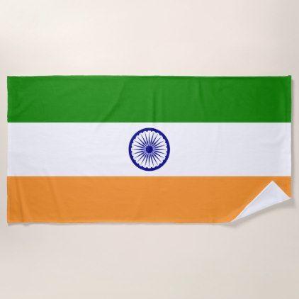 Indian Flag Beach Towel Zazzle Com Beach Towel Indian Flag Flag