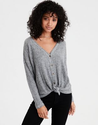 5f3688254 AE Plush Waffle Knot Top by American Eagle Outfitters | Style starts here.  Wear it your way.Style starts here. Wear it your way. Shop the AE Plush  Waffle ...