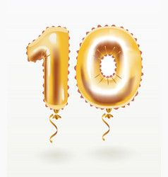 The Number For Birthday Balloon Number Ten Vector In 2020 Balloons Number Balloons Free Birthday Stuff