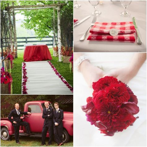 Ideas For A red Color Wedding
