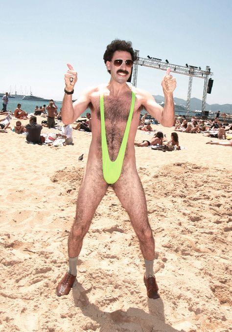 Borat bikini speedo picture, couple seduce girl gif