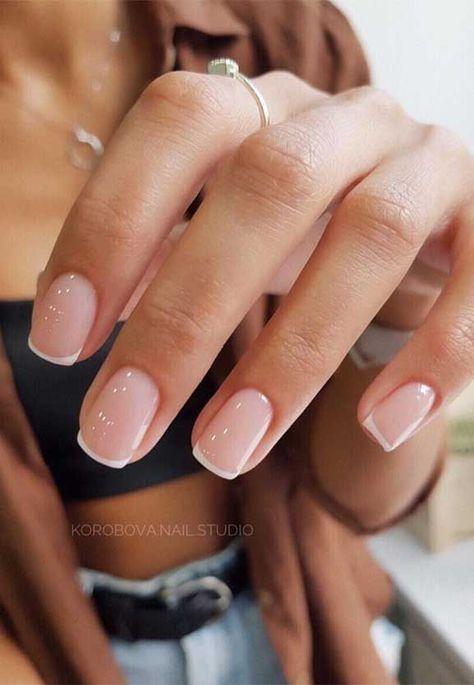 Casual Nails, Stylish Nails, Classy Gel Nails, Simple Gel Nails, Cute Simple Nails, Pretty Nail Art, Cool Nail Art, Subtle Nail Art, Pretty Gel Nails