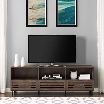 247 Amazon Com We Furniture Az70jacsdsg Tv Stand 70 Slate Grey Gateway Living Room Storage Walnut Tv Stand Living Room Storage Cabinet