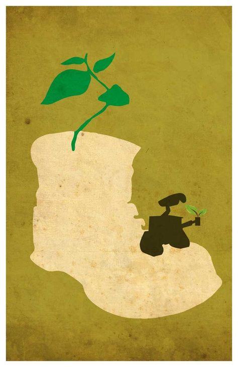 Disney Pixar movie poster - Wall E